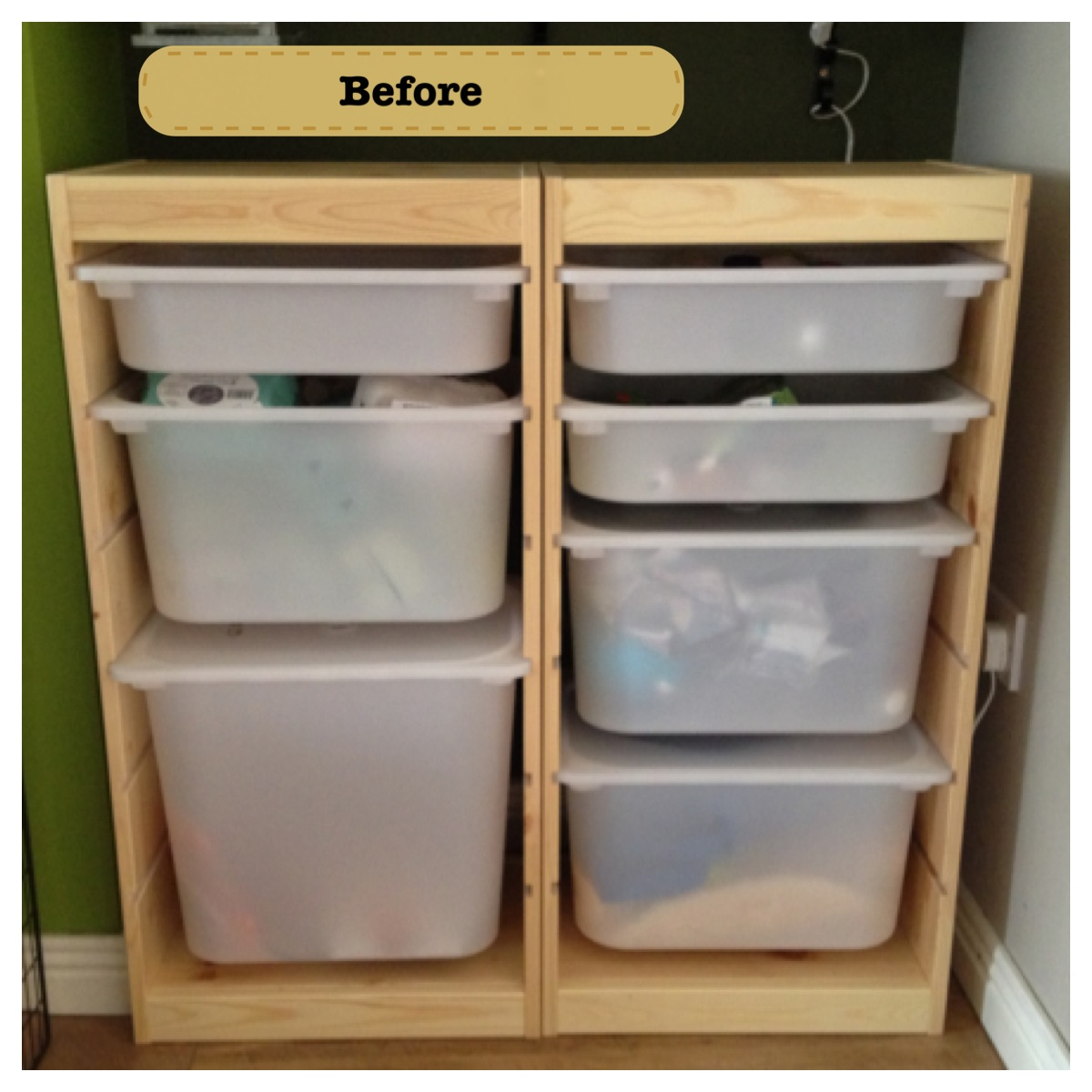 IKEA Trofast kids storage rev& & cotton feet and woolen ears: IKEA Trofast kids storage revamp