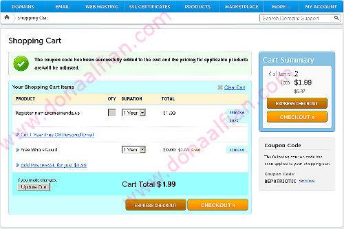 Domain .US hanya 1.99 $ dari NameCheap