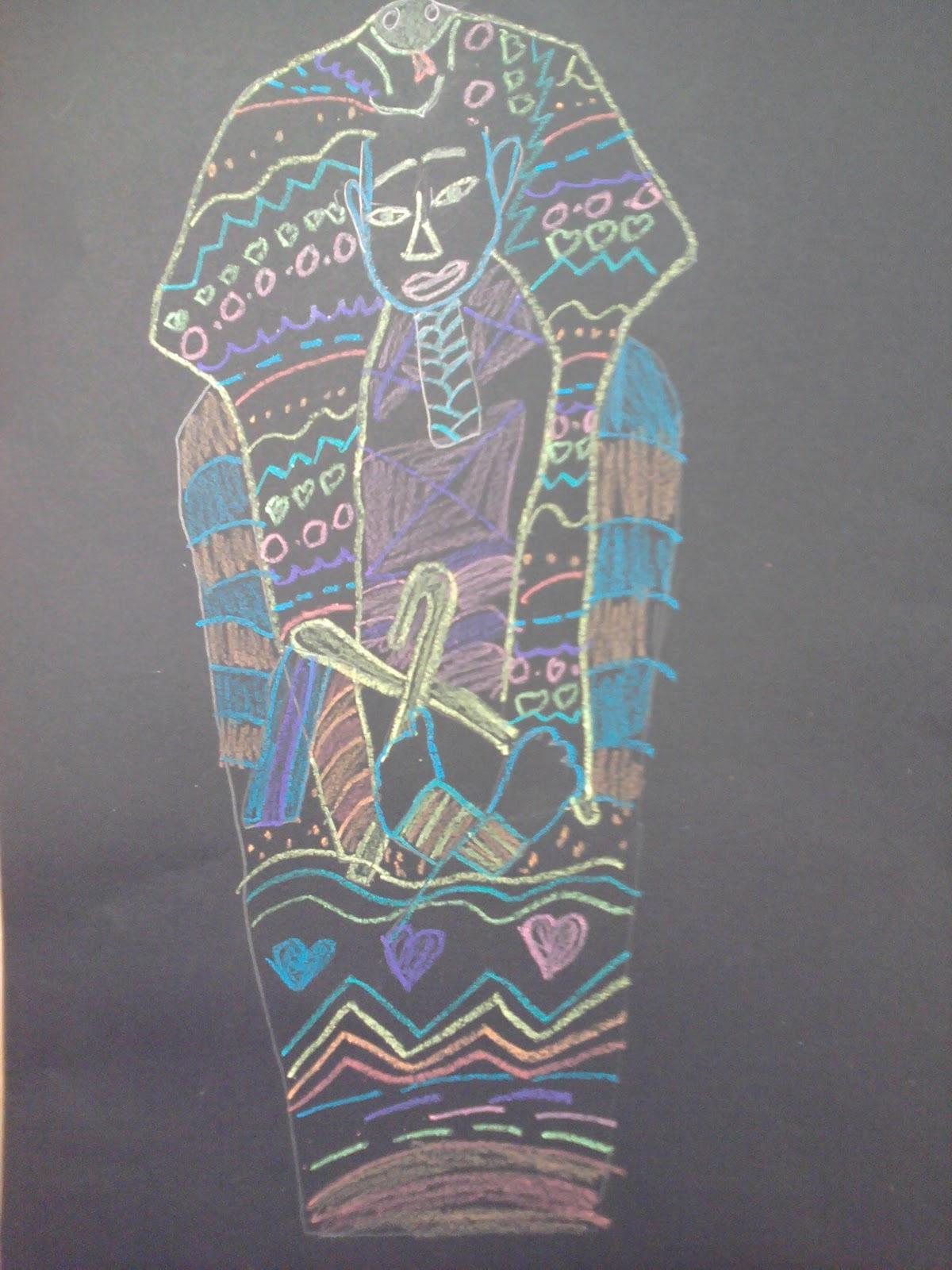 artastic miss oetken u0027s artists patterned egyptian sarcophagus