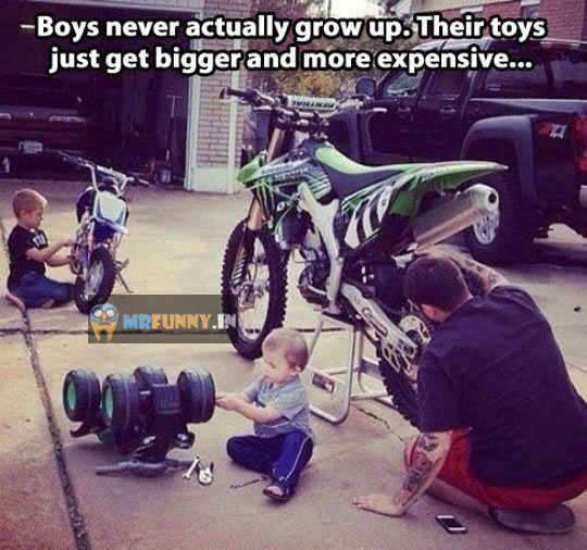 Boys Never Actually Grow Up