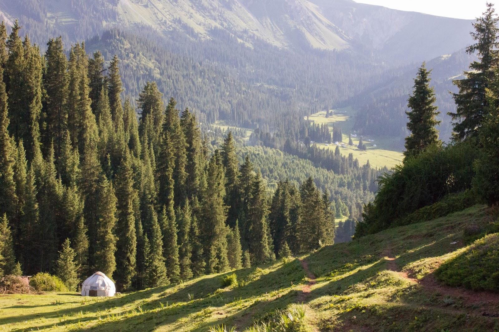 Кыргызстан, Джеты-Огуз, Иссык-Куль, юрта