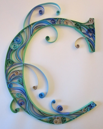 A can of crafty curiosities quilled monograms the letters c and r i had my hand again at doing some more monograms with paper quilling altavistaventures Choice Image