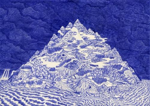 03-Cyclops-Island-Kevin-Lucbert-Ballpoint-Biro-Pen-Drawings-www-designstack-co