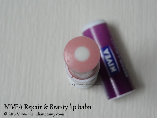 nivea repair and beauty lip balm review1
