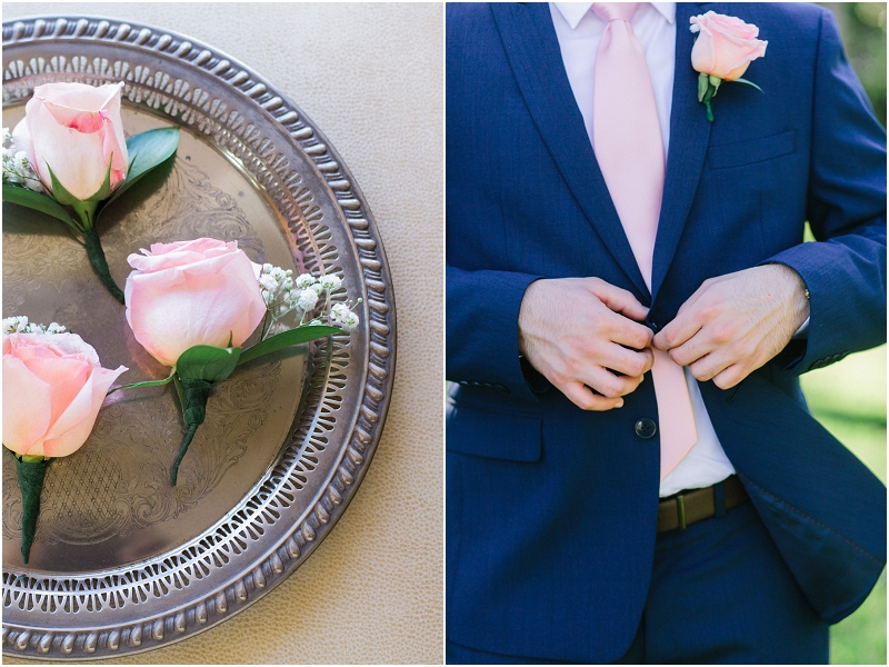 blush pink and navy wedding