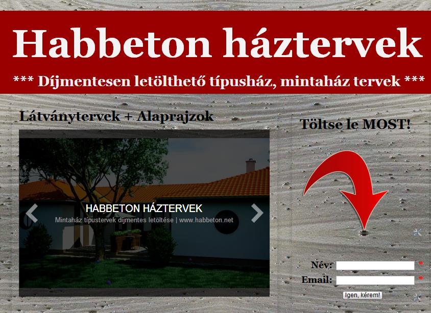 Épül Kft. | Habbeton háztervek díjmentes letöltése