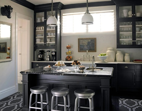 Gabinetes de cocina negros muy elegantes cocina y muebles for Gabinetes para cocina