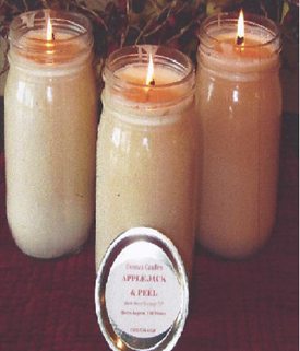 Holiday Candles for Sale - $10.00 each