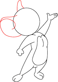 How To Draw Jerry Mouse Step 6