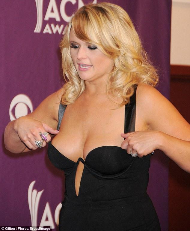 Miranda Lambert's Breasts Nearly Falling Out