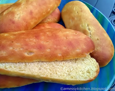 Einkorn hot dog buns from A Messy Kitchen