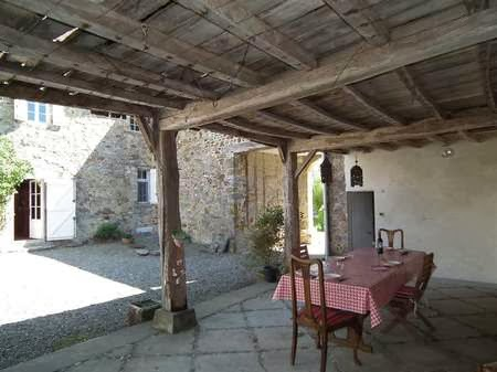 View of the courtyard of the house above
