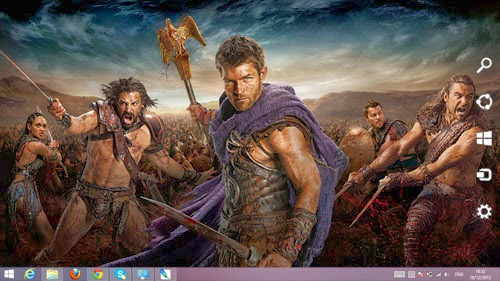 Spartacus The Movie Theme For Windows 7 And 8 8.1 9