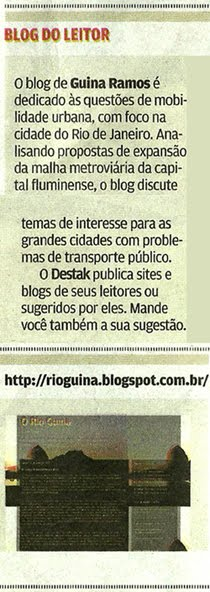 RioGuina é destaque em Destak