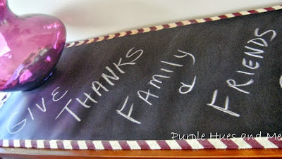 no sew Chalkboard Fabric Reversible Table Runner tutorial