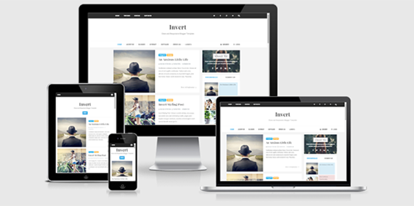 Invert Responsive and SEO Friendly Blogger Template - akutemplates