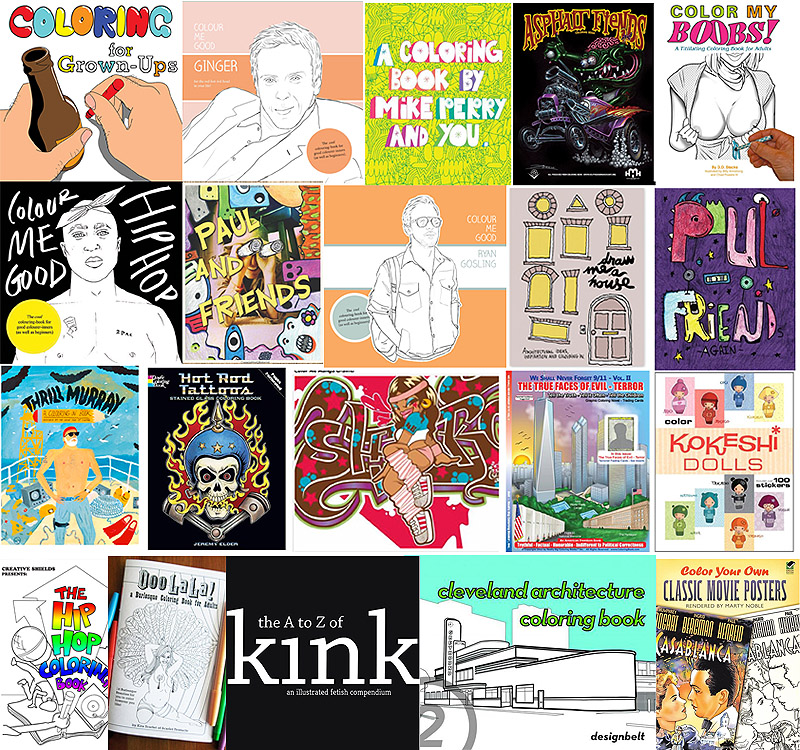 If It\'s Hip, It\'s Here (Archives): The Coolest Coloring Books For ...