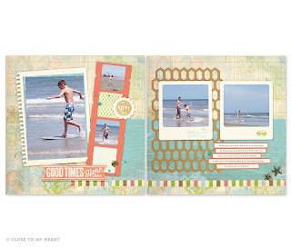 Seaside Beach Scrapbook Layout