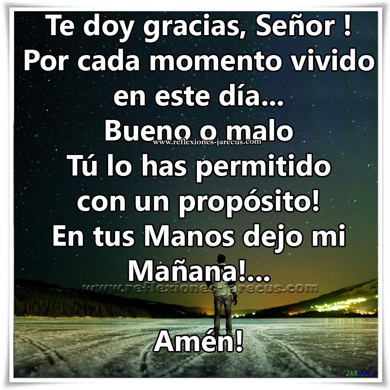Oraciones, Oración de agradecimiento,