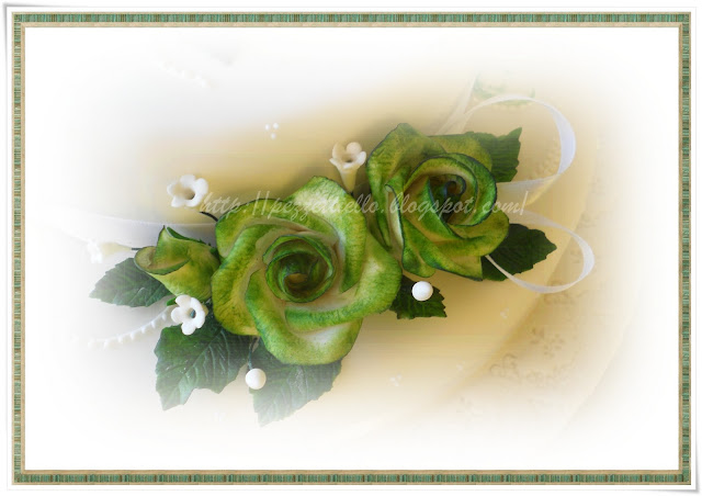 Verdi rose - Green Roses cake