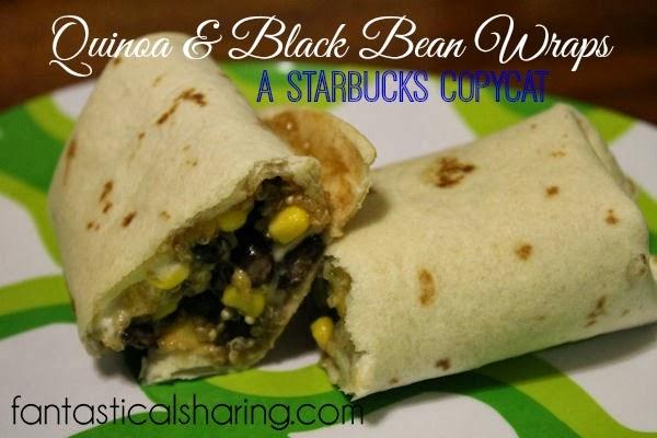 Quinoa & Black Bean Wraps: A Starbucks Copycat #quinoa #copycat