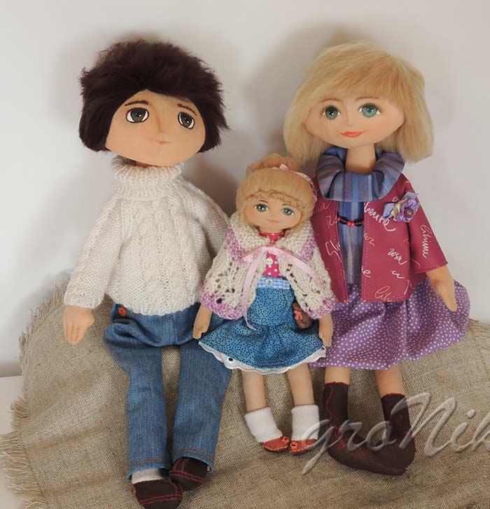 текстильная семейка кукол))