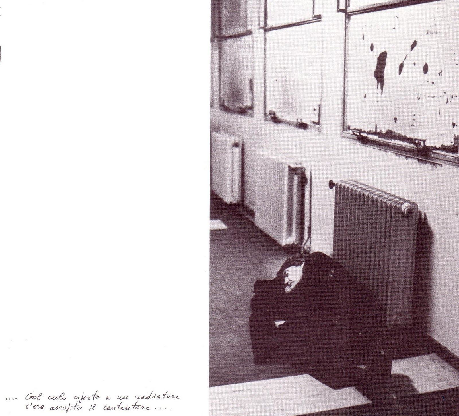 col culo esposto a un radiatore s era assopito il cantautore