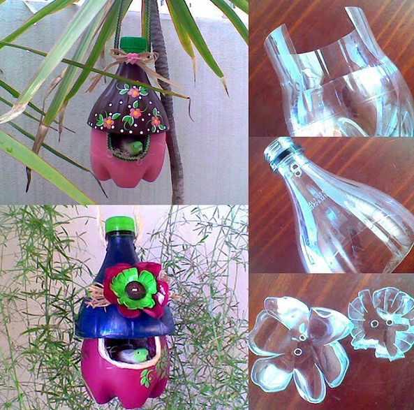 cara membuat Kandang Burung dari Botol Plastik