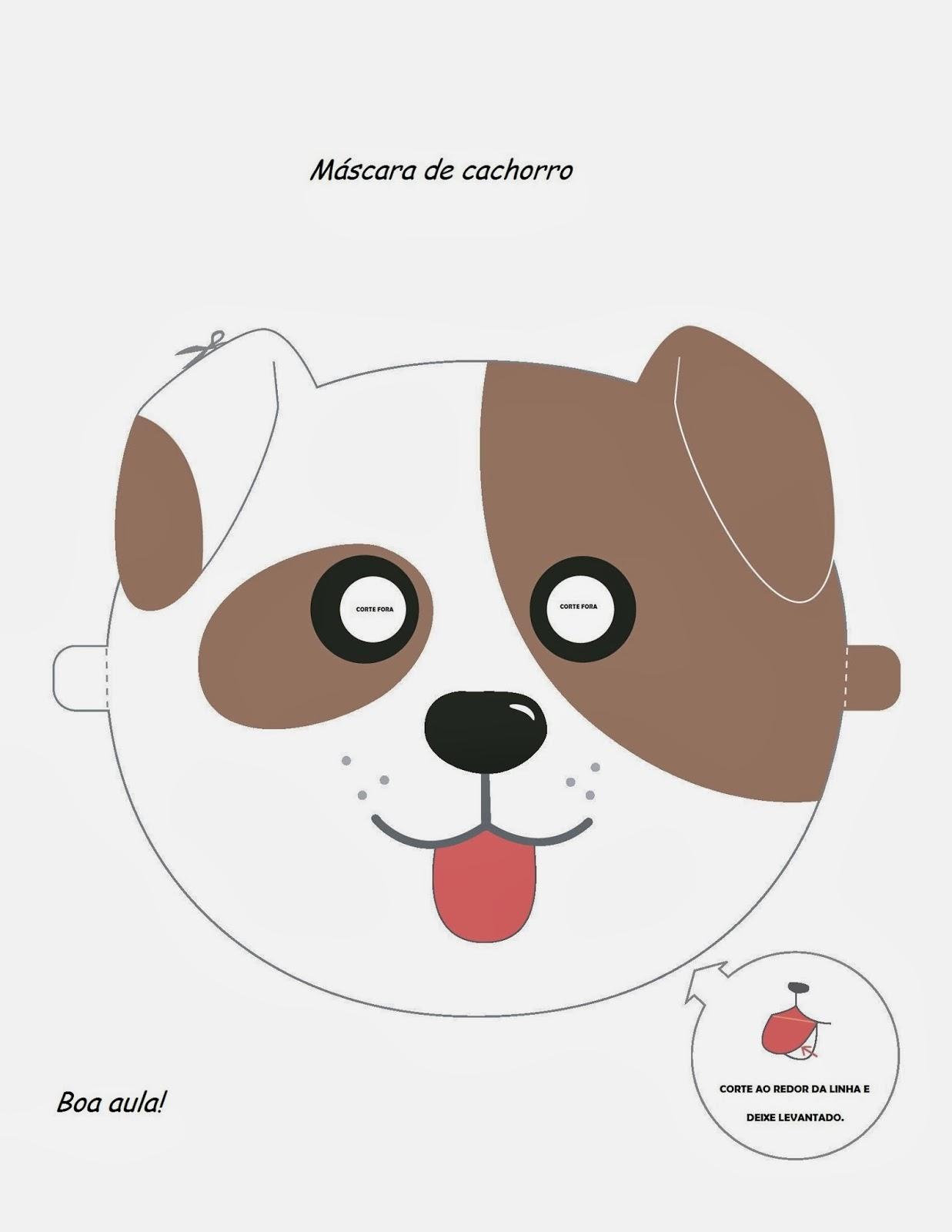 Máscaras de Animais - Cachorro