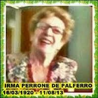 DEDICADO A IRMA PERRONE DE PALFERRO, mi madre