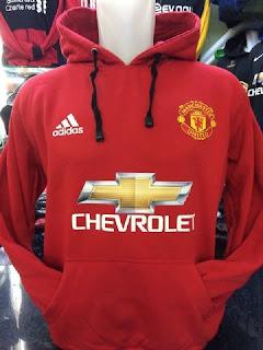 gambar detail terbaru musim depan enkosa sport Jaket hoodie sweater warna merah terbaru musim 2015/2016