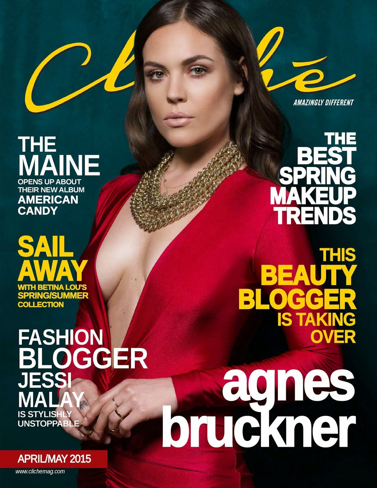 Actress @ Agnes Bruckner - Cliche Magazine, April/May 2015