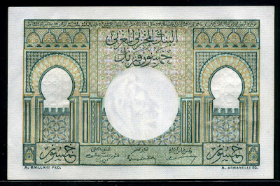 Moroccan Francs note banknotes bills