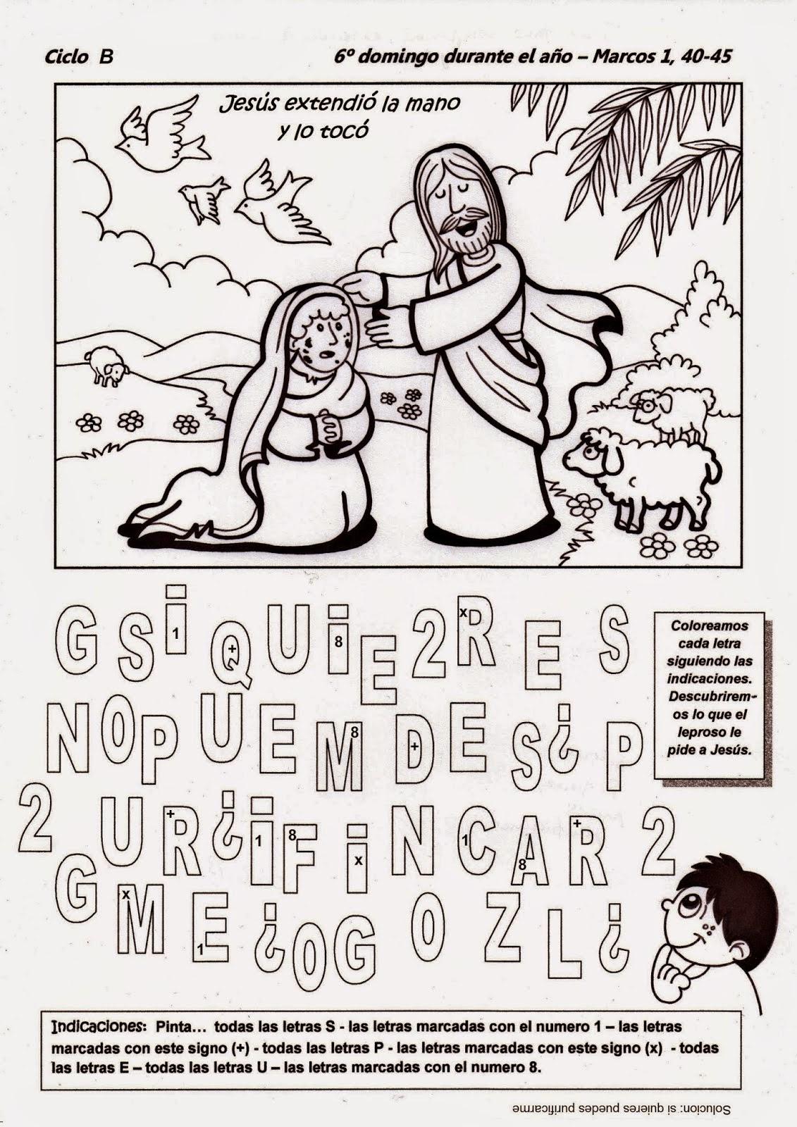 Dorable Páginas Para Colorear Católicas Masa Del Domingo Friso ...