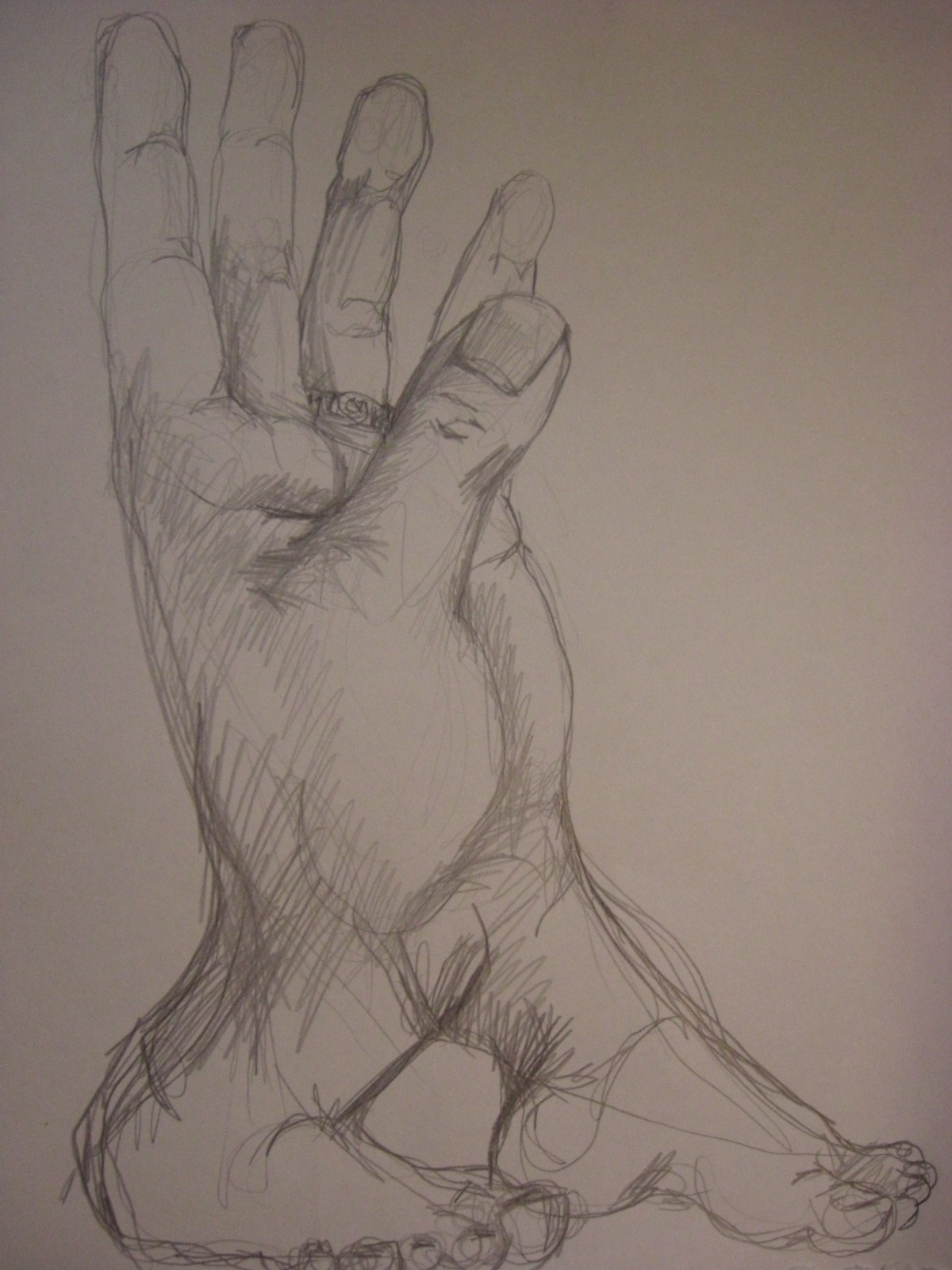 Surrealism Hands Drawing September 4 2011