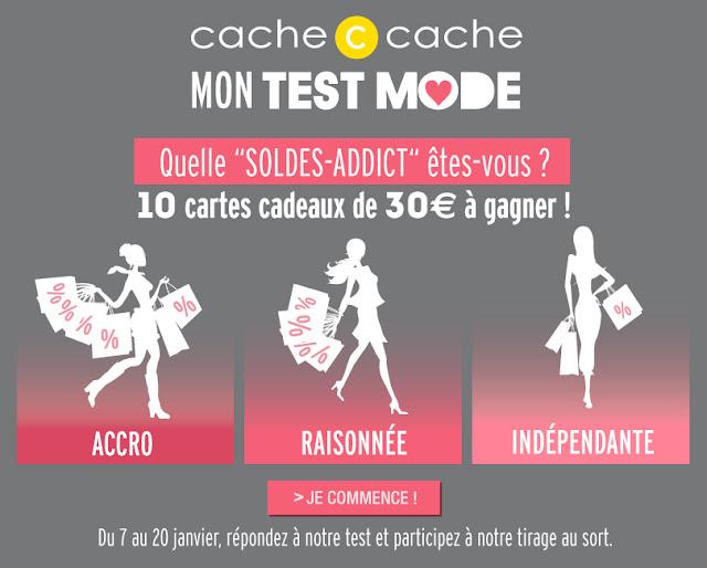 10 cartes cadeaux Cache Cache de 30 euros