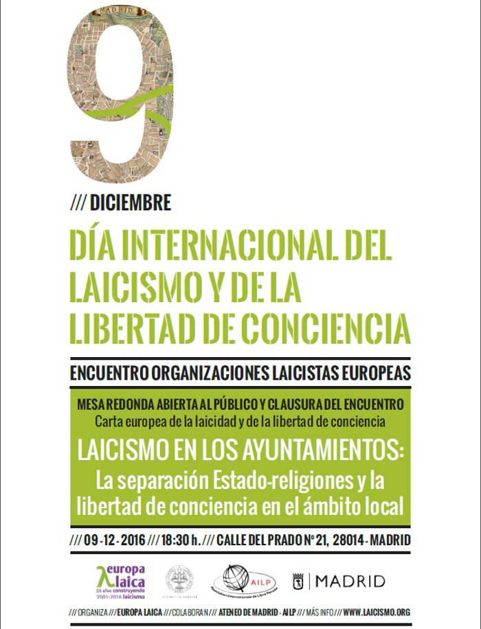 9 diciembre Día Internacional del Laicismo