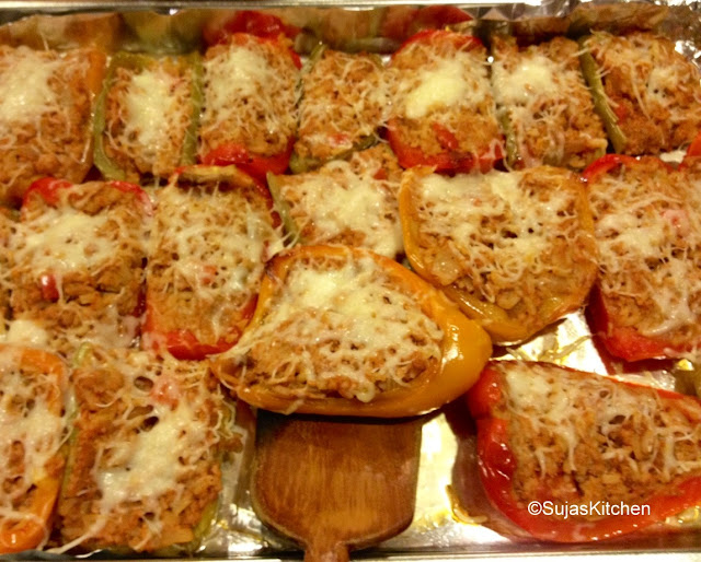 Stuffed Hot (Bell) Peppers