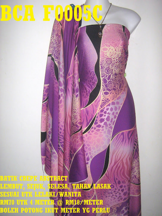 BCA F0005C: BATIK CREPE ABSTRACT,  4 METER