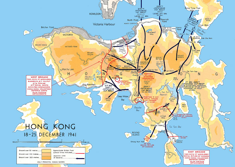 World war ii battle of hong kong after annihilating the us pacific fleet at pearl harbour the japanese empirical army moved on the british colony of hong kong on december 8th 1941 gumiabroncs Image collections