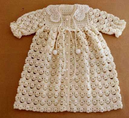 Abrigo de Bebé tejido a Crochet