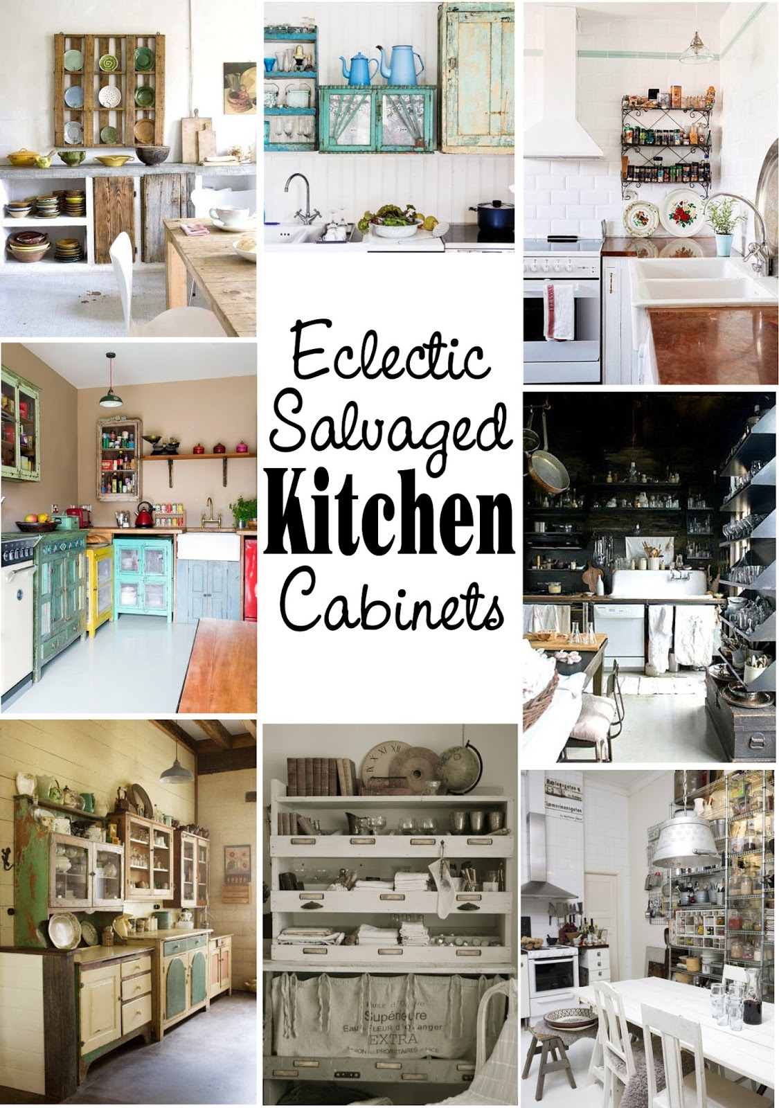 Salvaged Kitchen Cabinets Interior Design