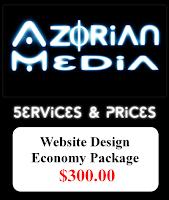 "AzM: Website Design- ""Economy Package"" $300.00"