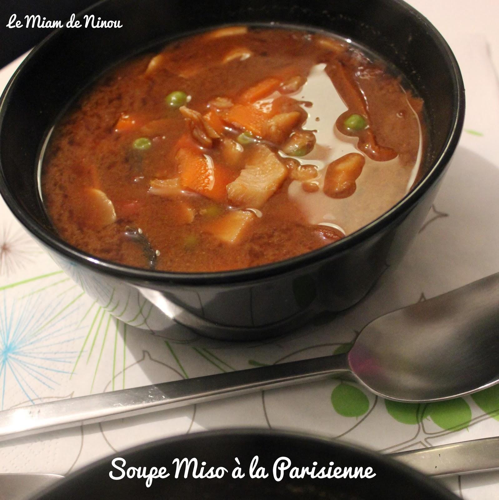 Comme une envie de soupe miso la parisienne - Soupe miso ingredient ...