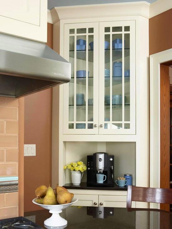 Favorite small kitchens that live large home interior design for Kitchen corner bar ideas