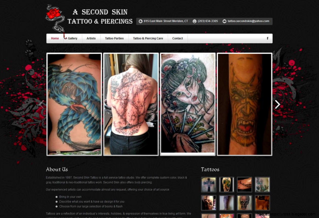 Web site design ₪ Business Featured ₪ Tattoo Shop ₪ Webkudu