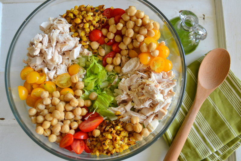 ... : Chicken and Chickpea Chopped Salad with Cilantro Lime Dressing
