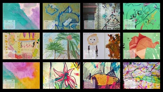 FREE 12 Month Desktop Art Calendar
