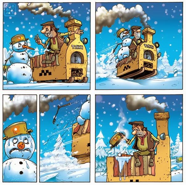 Снеговик и таксист