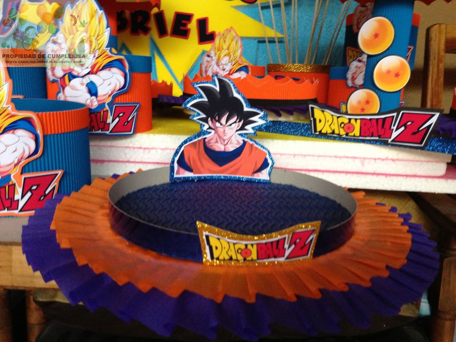DECORACIONES INFANTILES: dragon ball z
